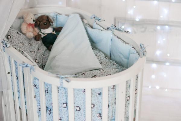 Комплект постельного белья для новорожденных TAO BLEU