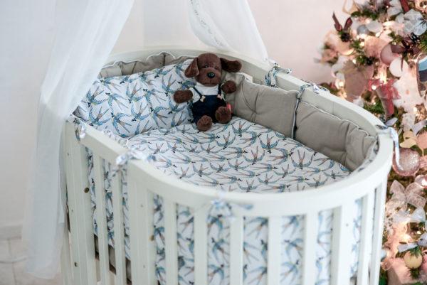 Комплект постельного белья для новорожденных ENVOL BLANC
