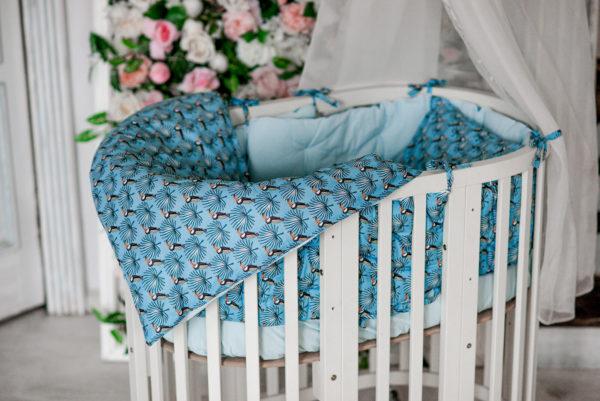 Комплект постельного белья для новорожденных MAMBO BLEU