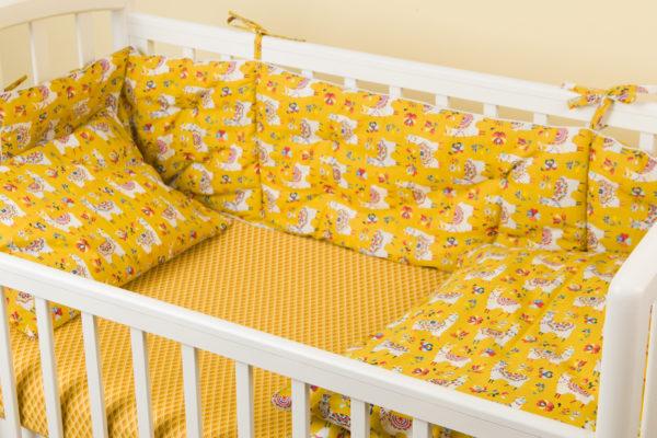 Комплект постельного белья для новорожденных ALPAGA CURRY