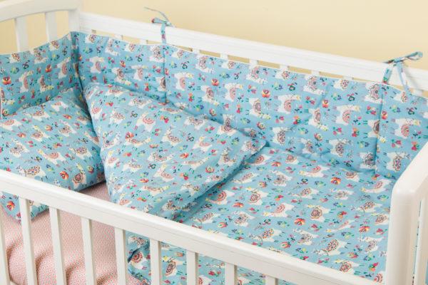 Комплект постельного белья для новорожденных ALPAGA BLEU