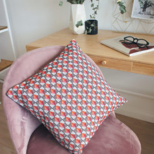 Декоративная подушкака 40х40 см, 30х60 см Оранж